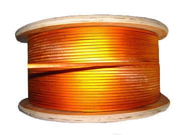 Glass-fiber film wrapped flat/round copper wire