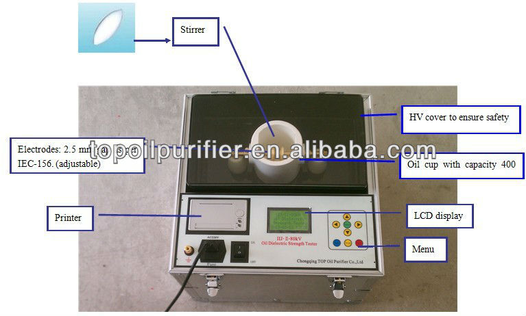 Fully Automatic Insulating oil Dielectric Strength tester Series IIJ-II
