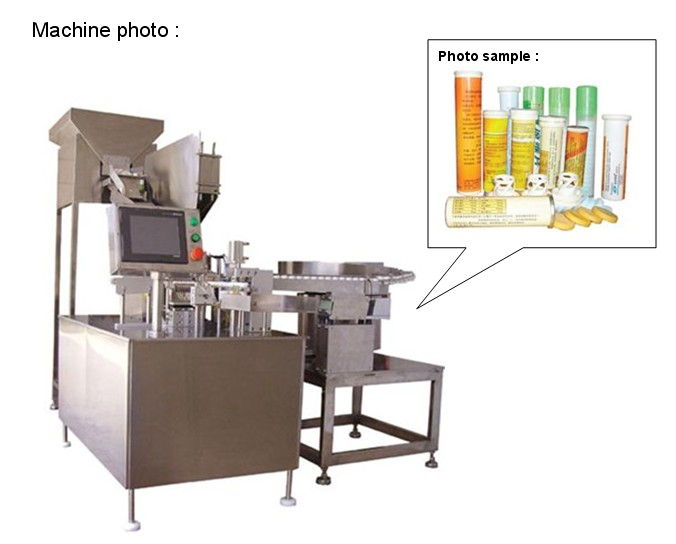 China pharmaceutical machine for tablet tube filling and sealing machine