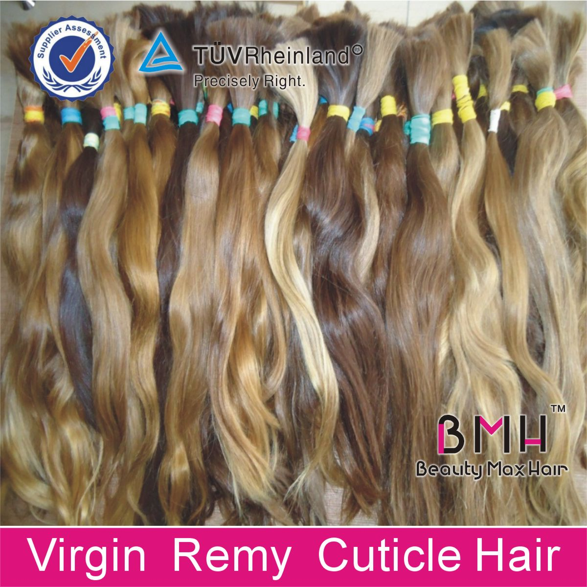 wholesale price unprocessed raw hair Russian virgin hair bulk and hair braiding