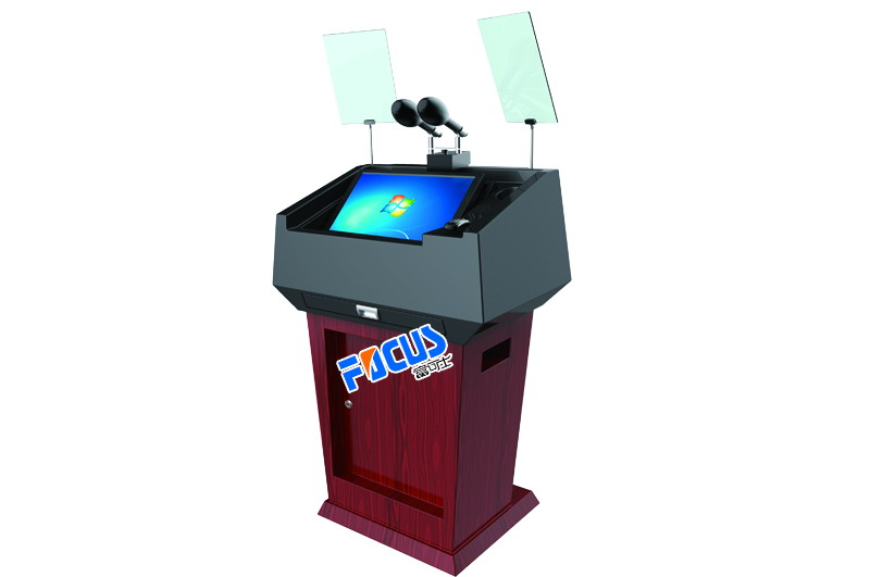 Focus L1 steel and plastic digital speech podium/lectern