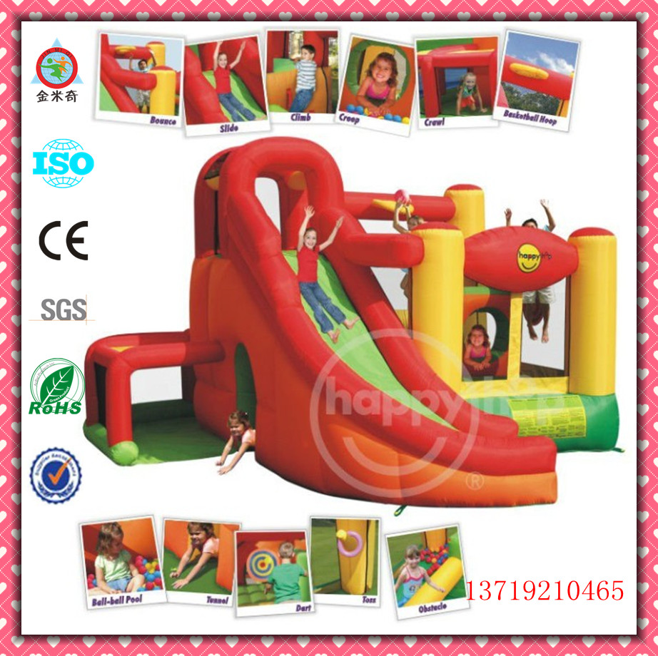 Hot selling inflatable slide, inflatable bouncer, inflatable jumping castle JMQ-K151M