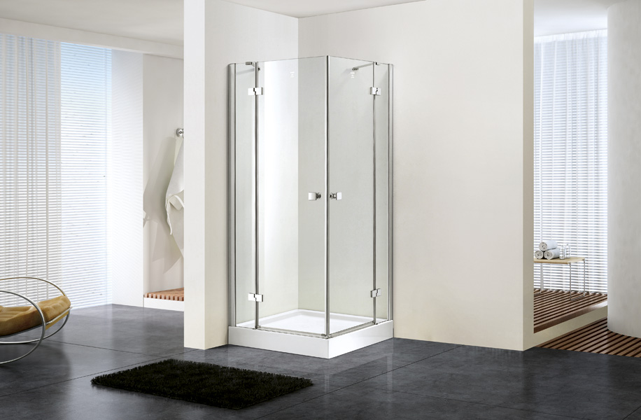 Square double hinge door