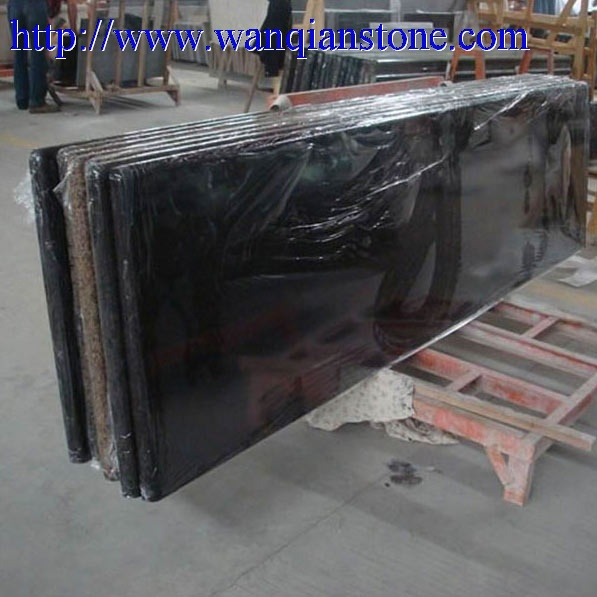 offer Black granite countertop
