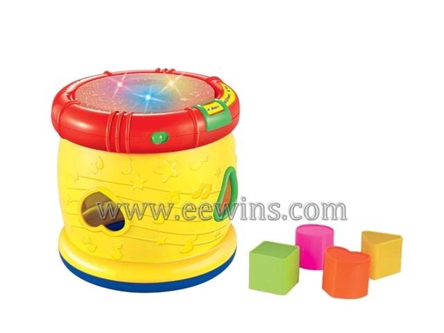 Educational musical drum with blocks toys