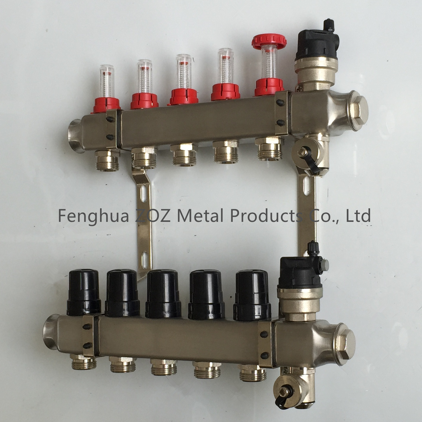 Stainless steel floor heating manifold