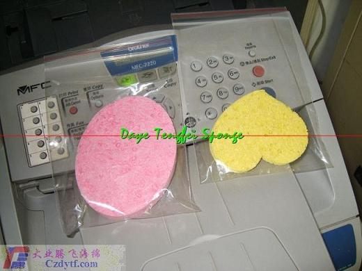 cellulose cleaning puff