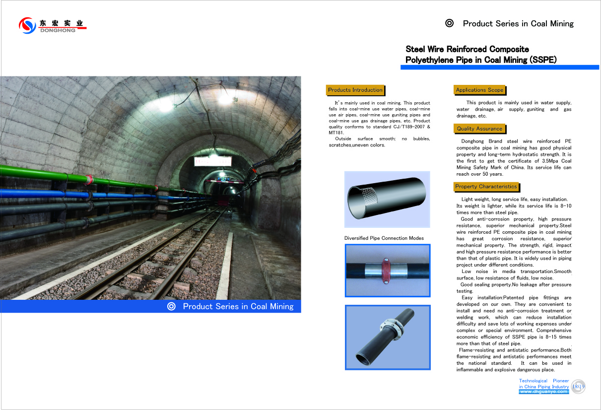 Underground Coal Mine Use Polyethylene(Epoxy Resin) Coated Steel Pipes