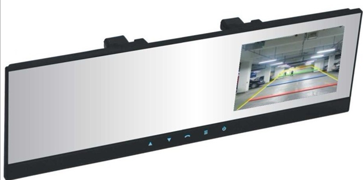 4.3 TFT Rearview mirror monitor with hands free bluetooth car kit  // touch key    Model: AJ-BC-99