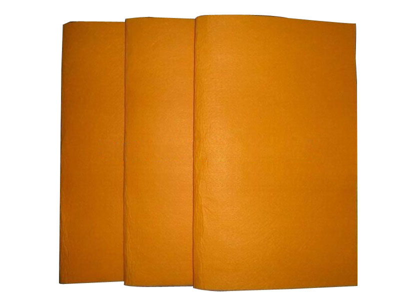 Orange super absorbent cleaning cloth