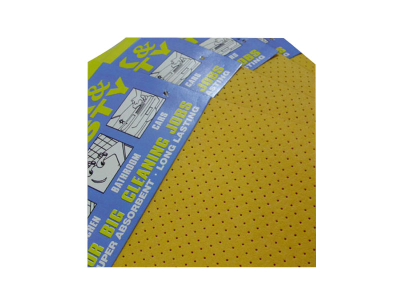 Car application perforated cleaning wipes