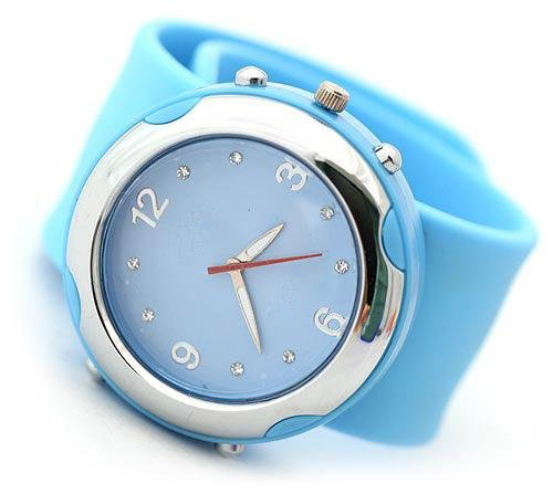 Silicone clap watch