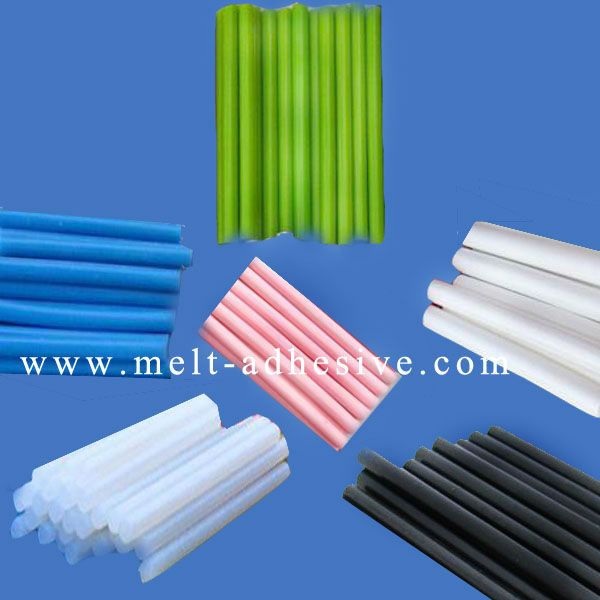 Colorful Hot Melt Glue Sticks/White,Black,Blue