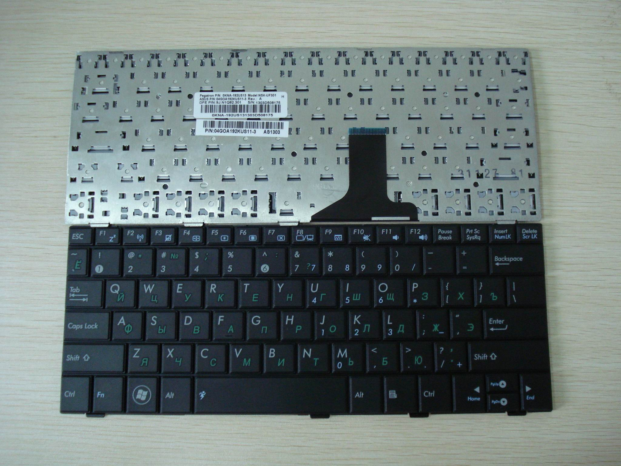 New keyboard For ASUS EPC 1005HA 1008  1001 1004 notebook keyboard repairing replaceement keyboard RU layout