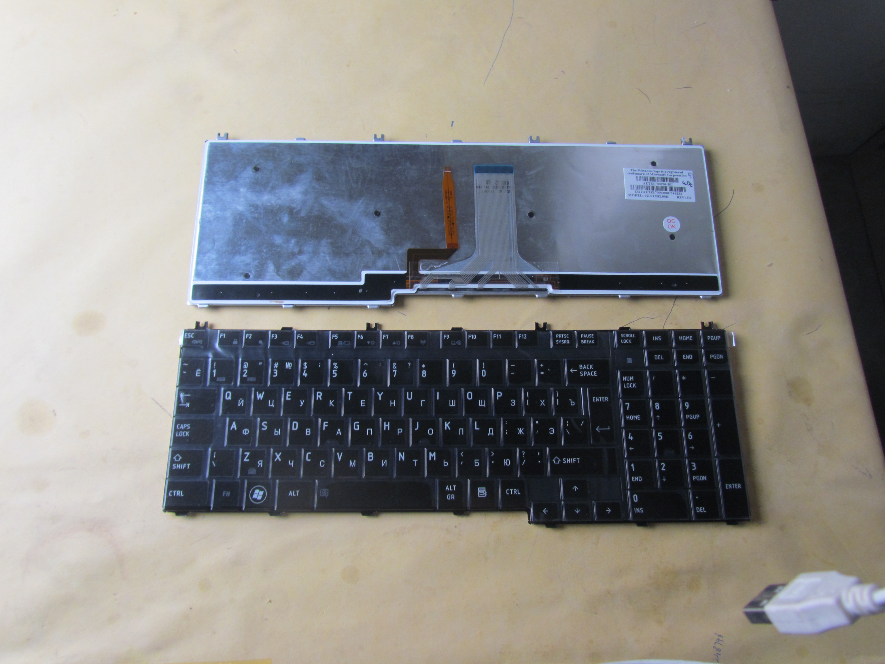 Original laptop keyboard For TOSHIBA A500 P300 laptop  keyboard repairing replaceement keyboard RU layout