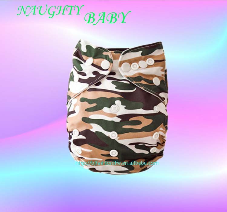 Reusable printed baby cloth nappy