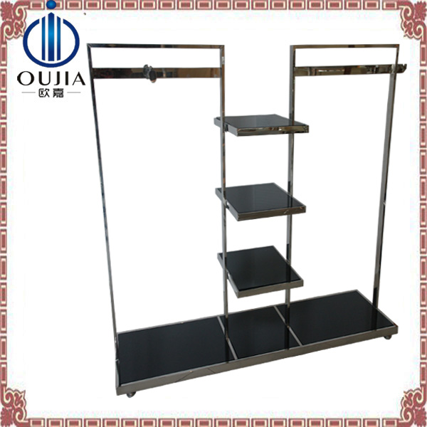 luxury stainless steel store fixture display for clothes