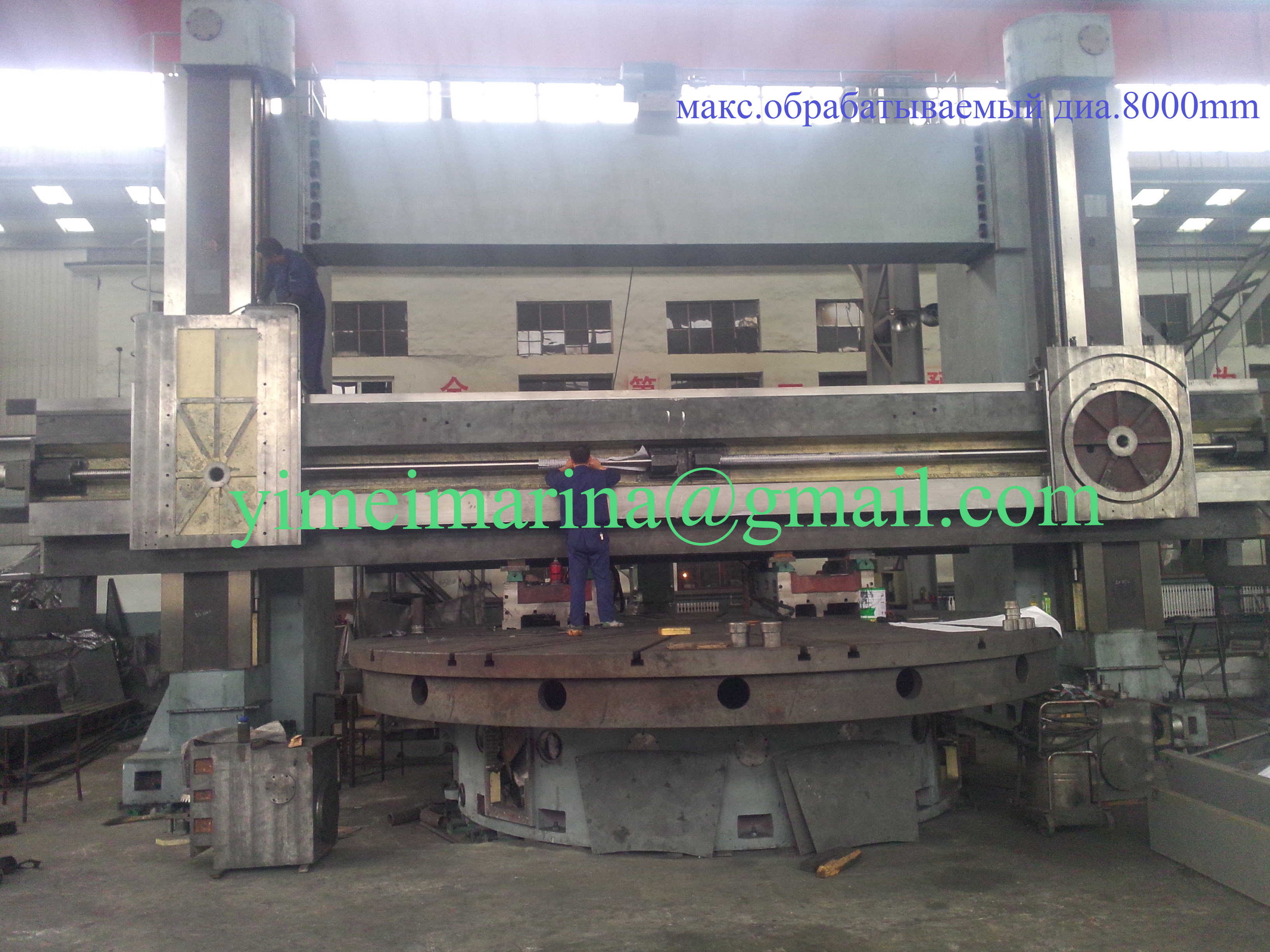 СNC double columns vertical turning-milling center