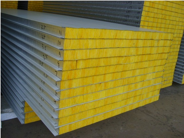 Metal Rock Wool Mineral Wool Sandwich Panel