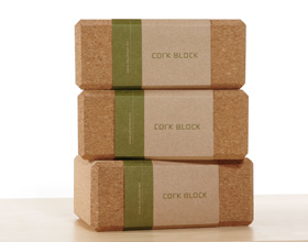 cork yoga bricks/block