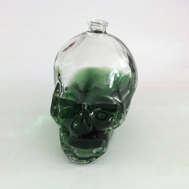 skeleton perfume glass bottles with cap with pump