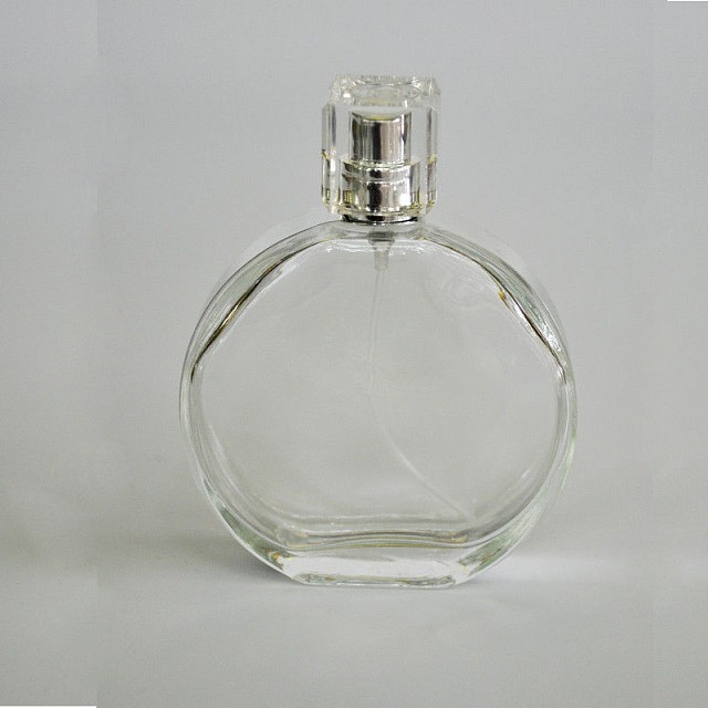 OEM perfume glass bottles with cap with pump