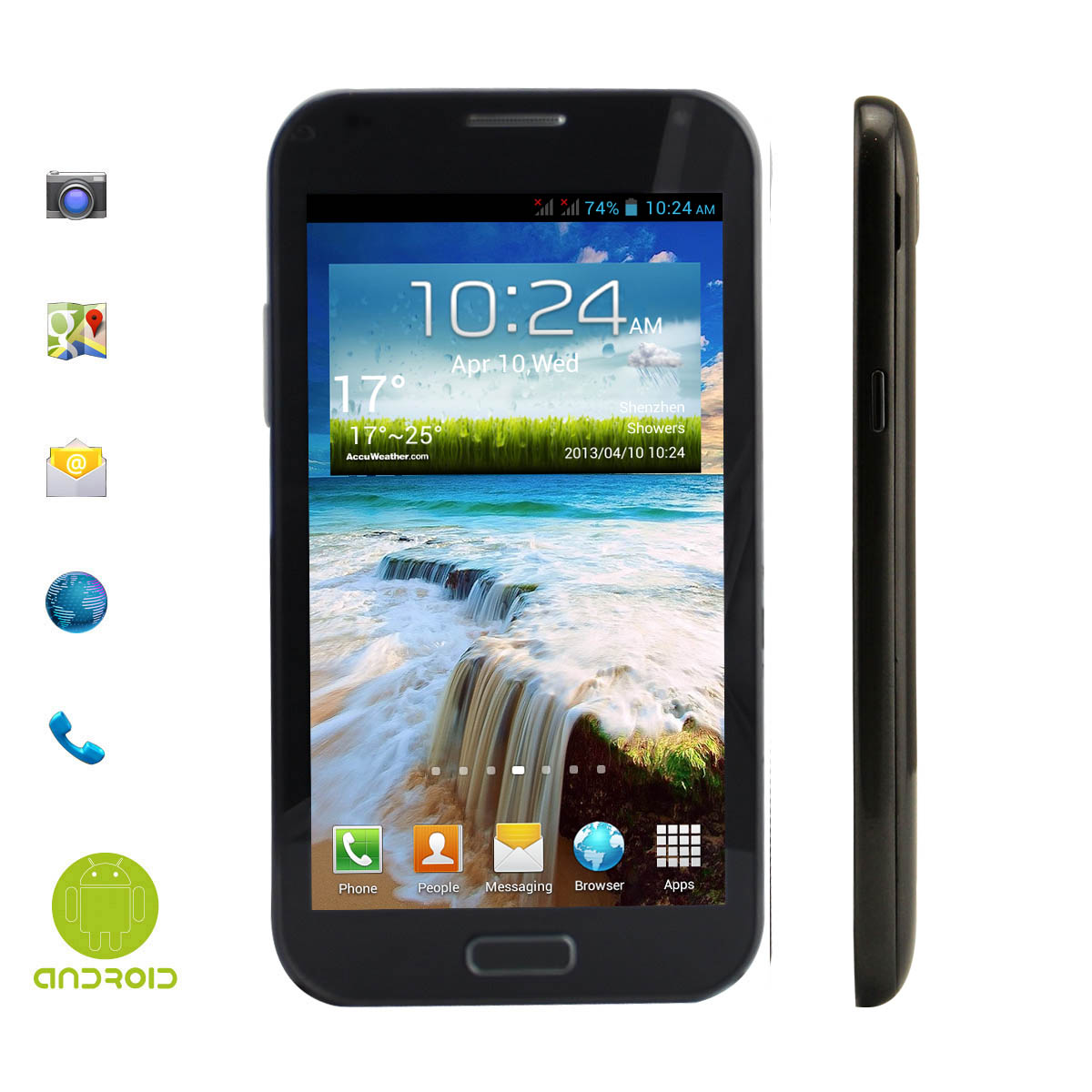 "5.3"" 3G smartphone,Android4.2.1 MTK6589."