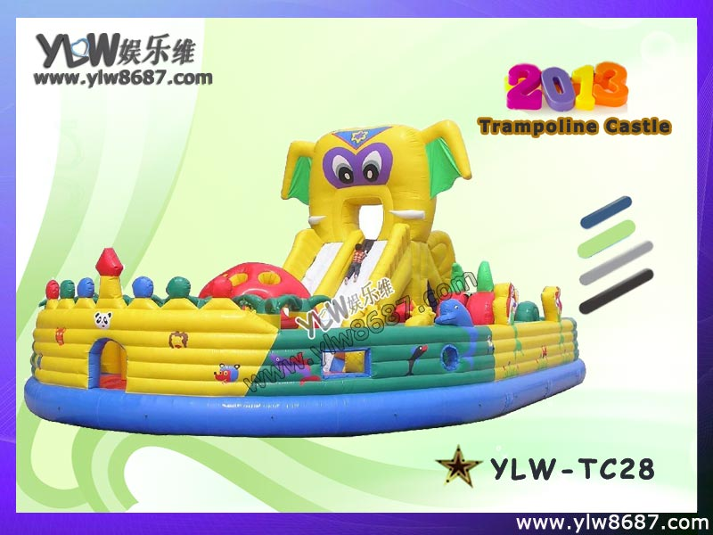 giant inflatable trampoline,children amusement inflatable bouncer,inflatable toy