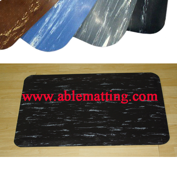 Anti-fatigue Floor Mat, Marbleized Pattern Surface (used in dry area)