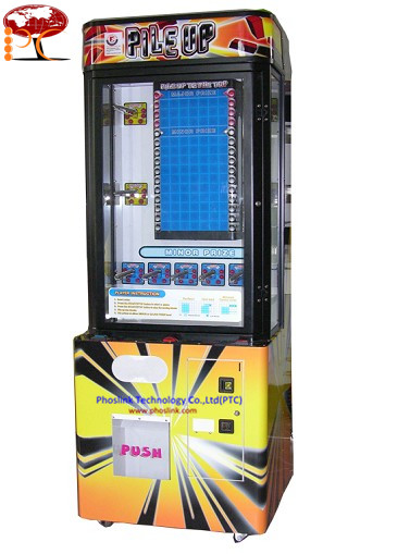 Pile Up Stacker Amusement Prize Vending Machines For Game Center PTC-P29P