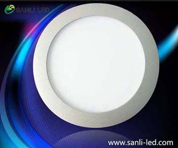 Round Dia180mm cool white LED Panel Light 7W with DALI dimmable & Emergency