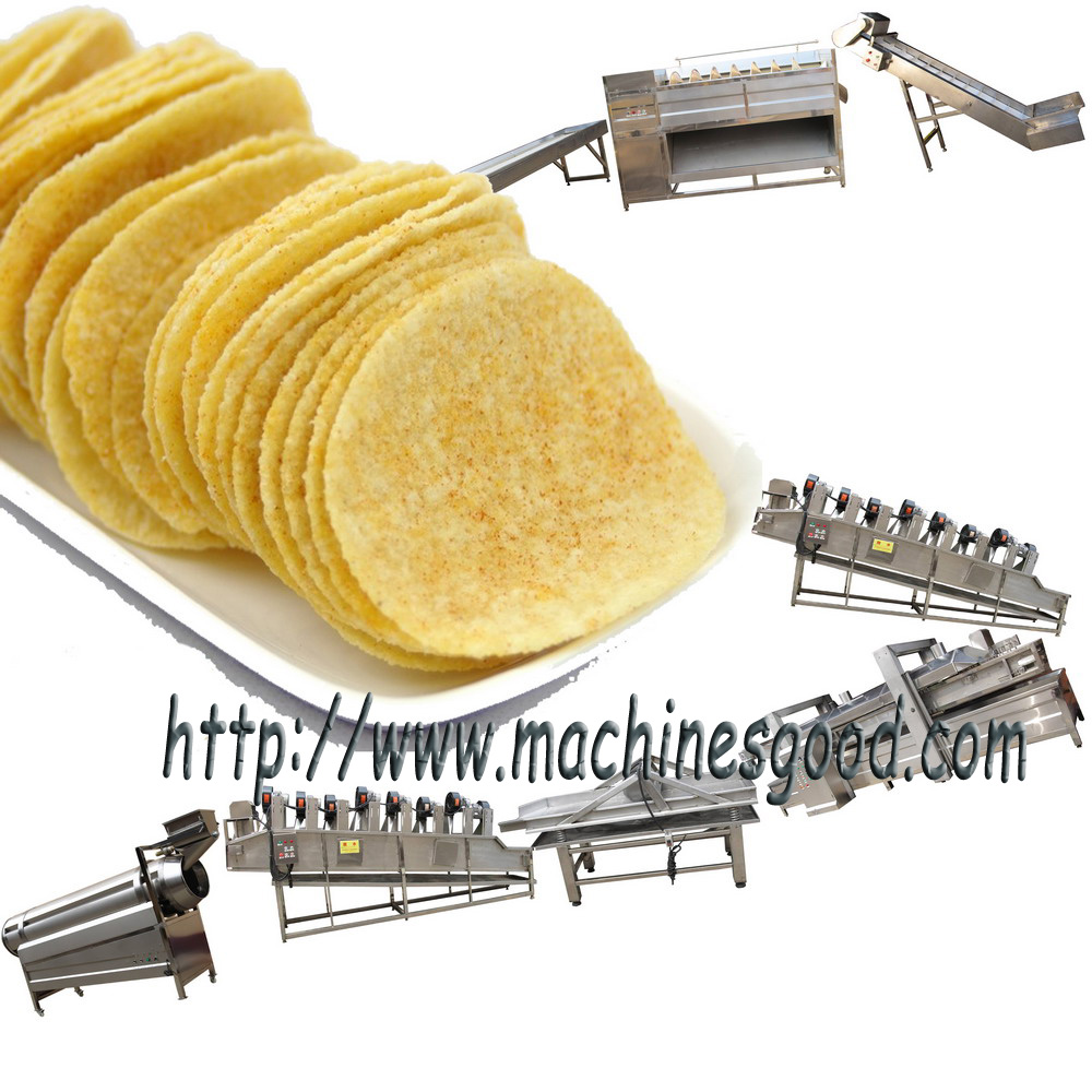 automatic potato chips machine