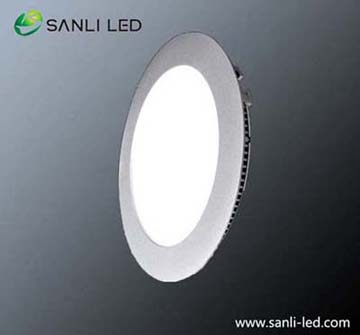 Round Dia240mm warm white LED Panel Light 12W with DALI dimmable & Emergency