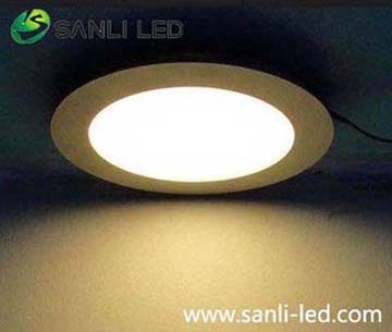 LED Panel Light round 18W warm white with DALI dimmable & Emergency for ceiling lighting project