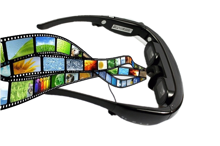 72'' Video Glasses Mobile Theatre FPV Player