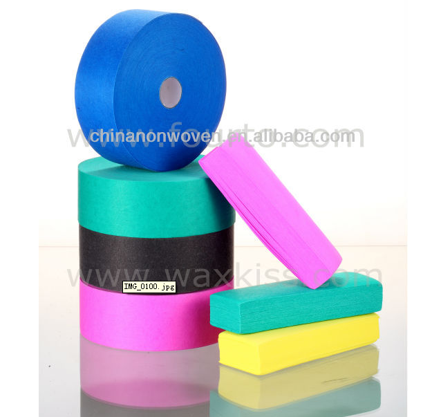 disposable nonwoven colored wax paper for depilation use