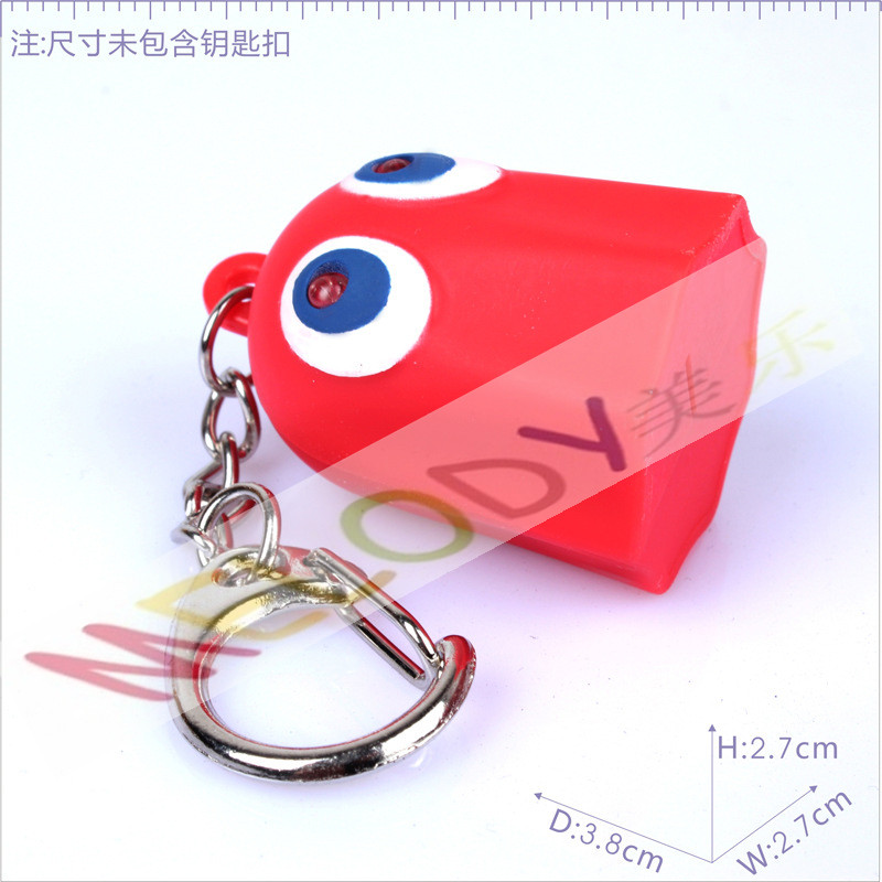 GOHST led keychain with sound With 2 led red light good as Hollywood promotional gifts