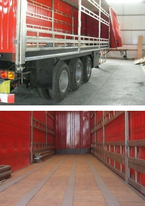 3 axles intelligent design curtain sider semitrailer for sale