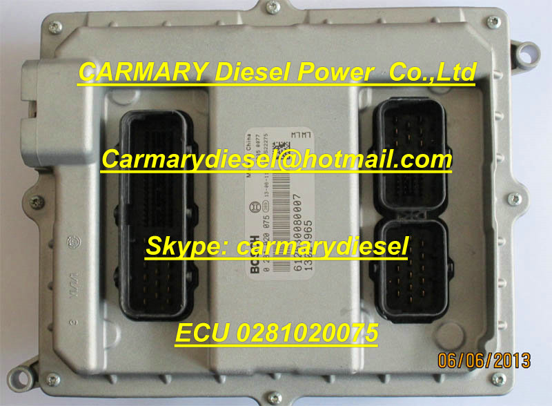 Bosch ECU 0281020075 for WEICHAI engine 612630080007