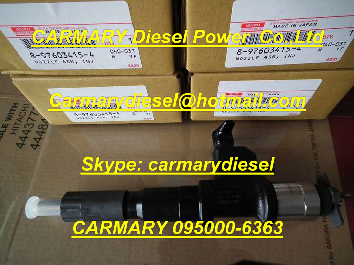 Denso injector 095000-6363 for Isuzu 4hk1/6hk1 8976097882