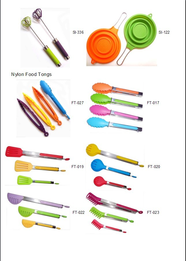 silicone/ nylon food tongs