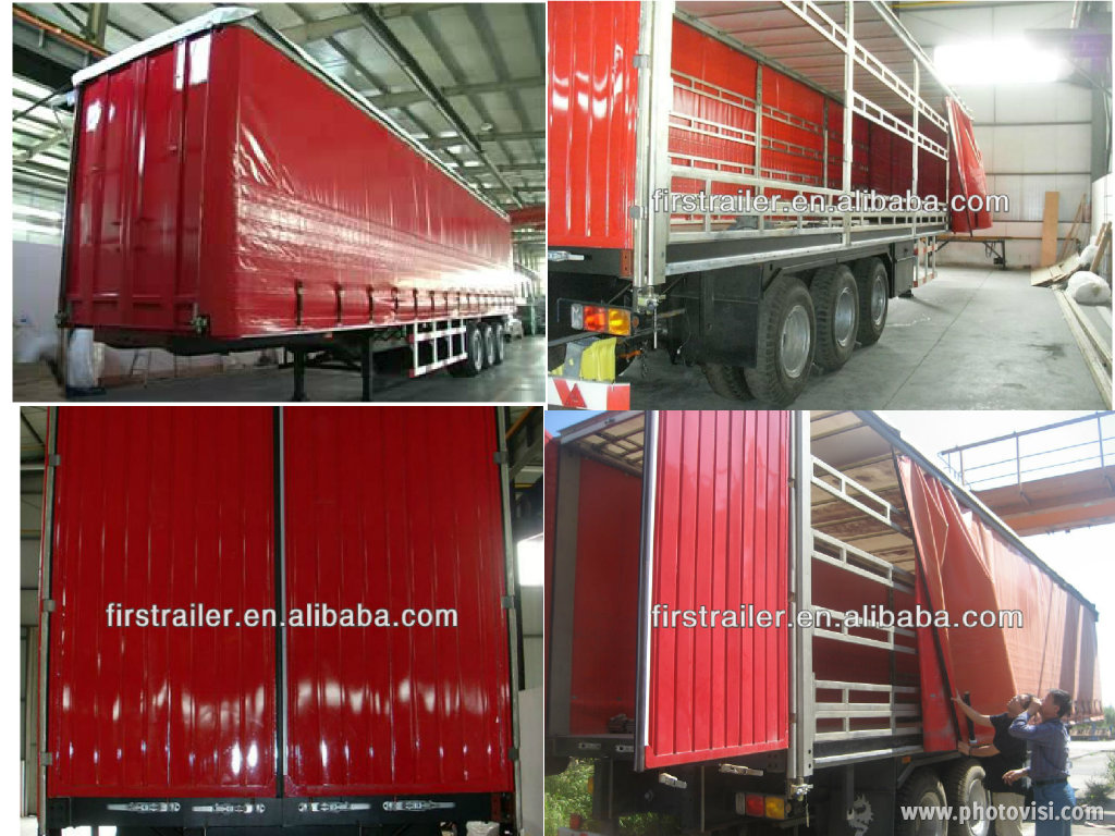 Tri-axle intelligent design curtain sider semitrailer