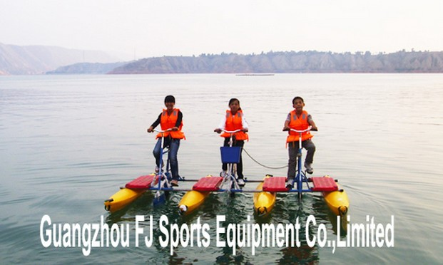 Three seat water bike, double seat water bike
