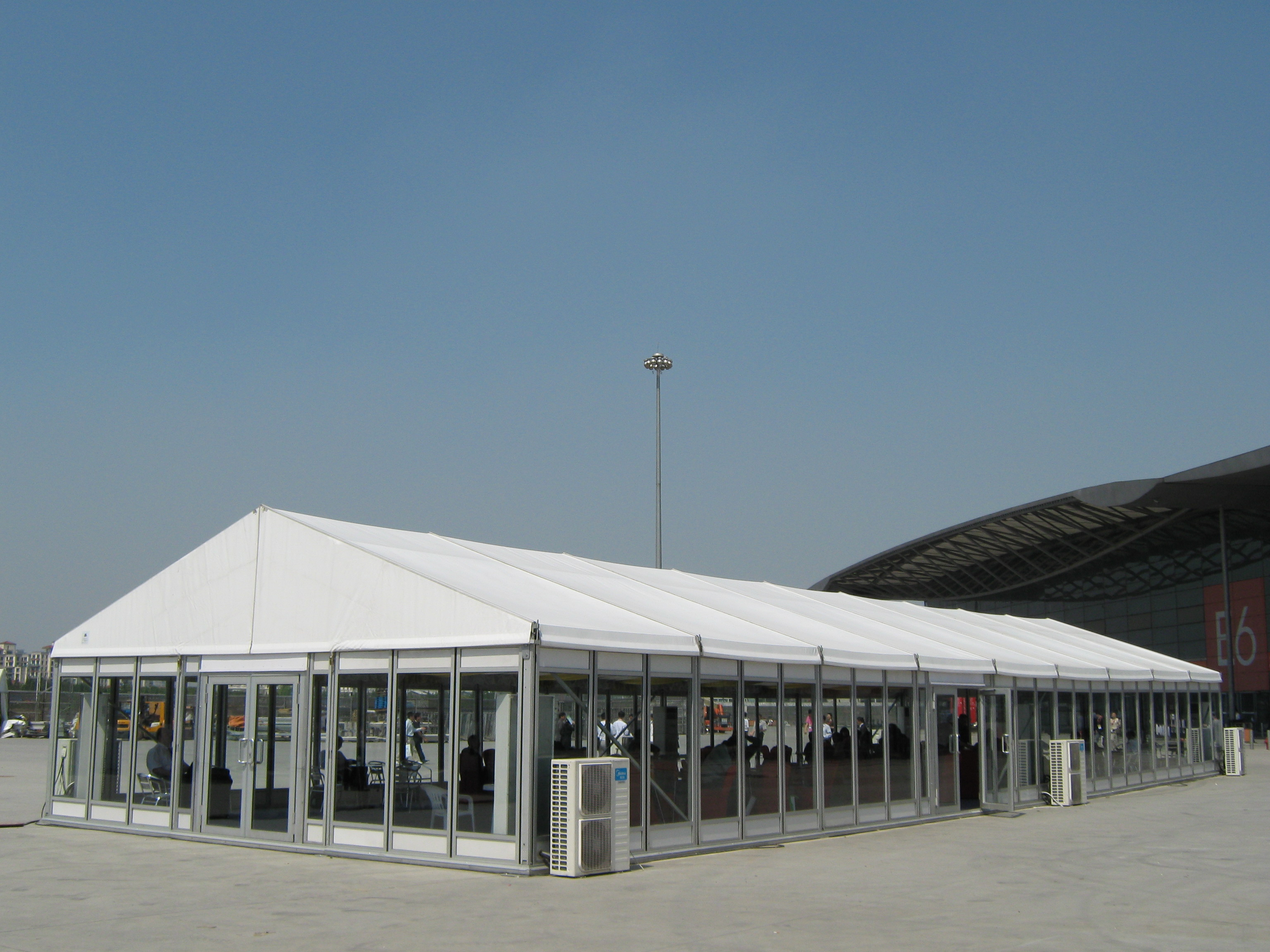 glass exhibition tent