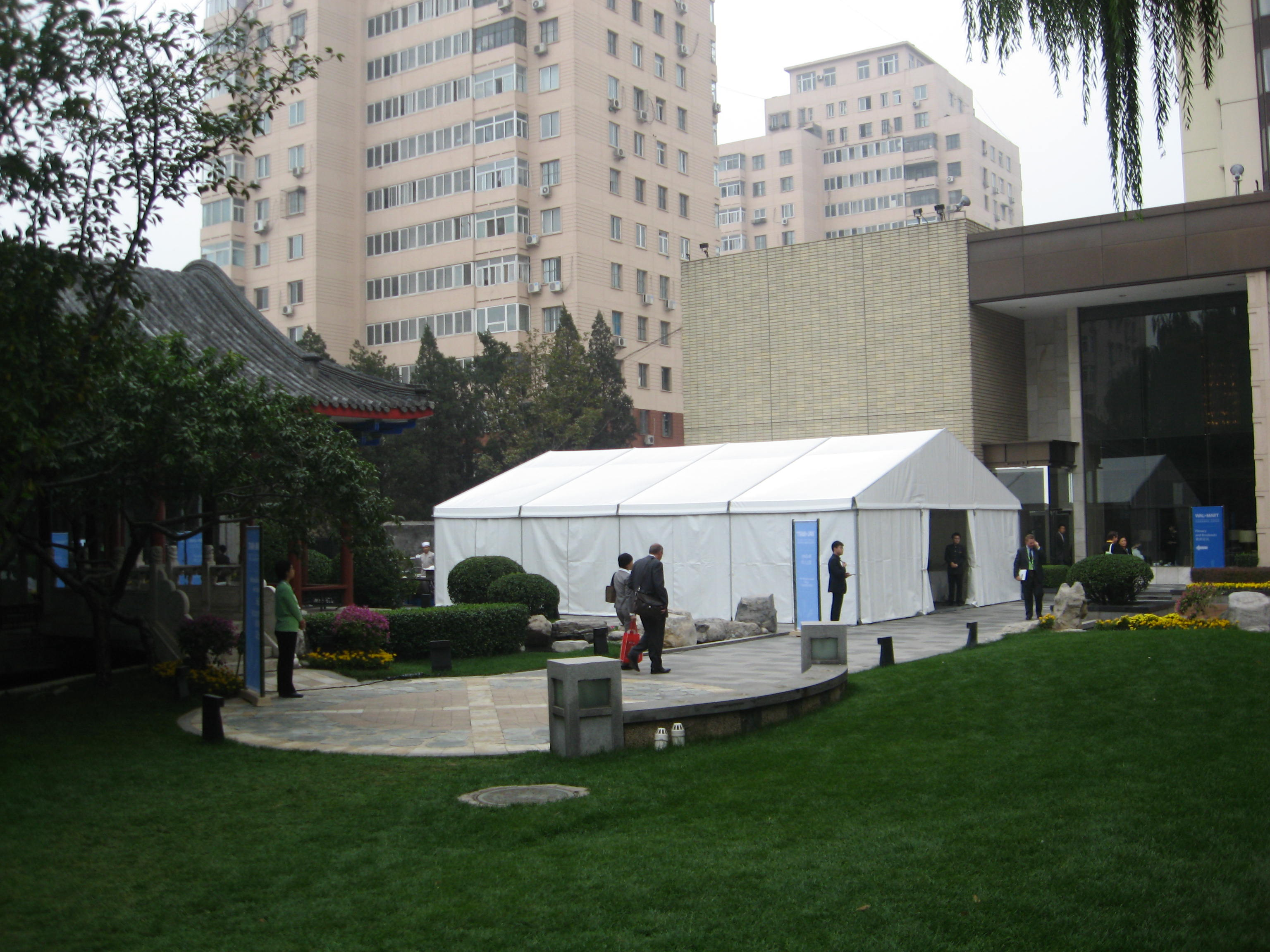 small exhibition tent