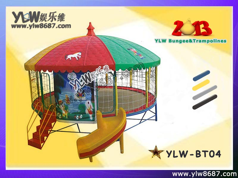 single bungee trampoline/motor inflatable bungee trampoline