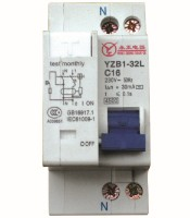 YZB1-32L Leakage Circuit Breaker (phase + neutral + leakage + overvoltage)