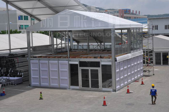 Two story big structure tent