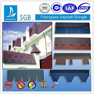 colored fibler glass asphalt shingle