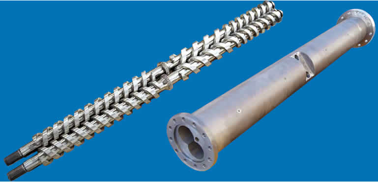 parallel twin screw and barral